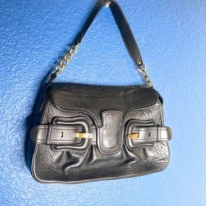 AUTHENTIC Fendi B Bis Black Leather Shoulder Bag